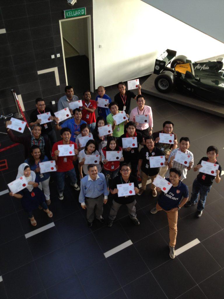 Post Greenbelt class @ AirAsia Academy, Kuala Lumpur