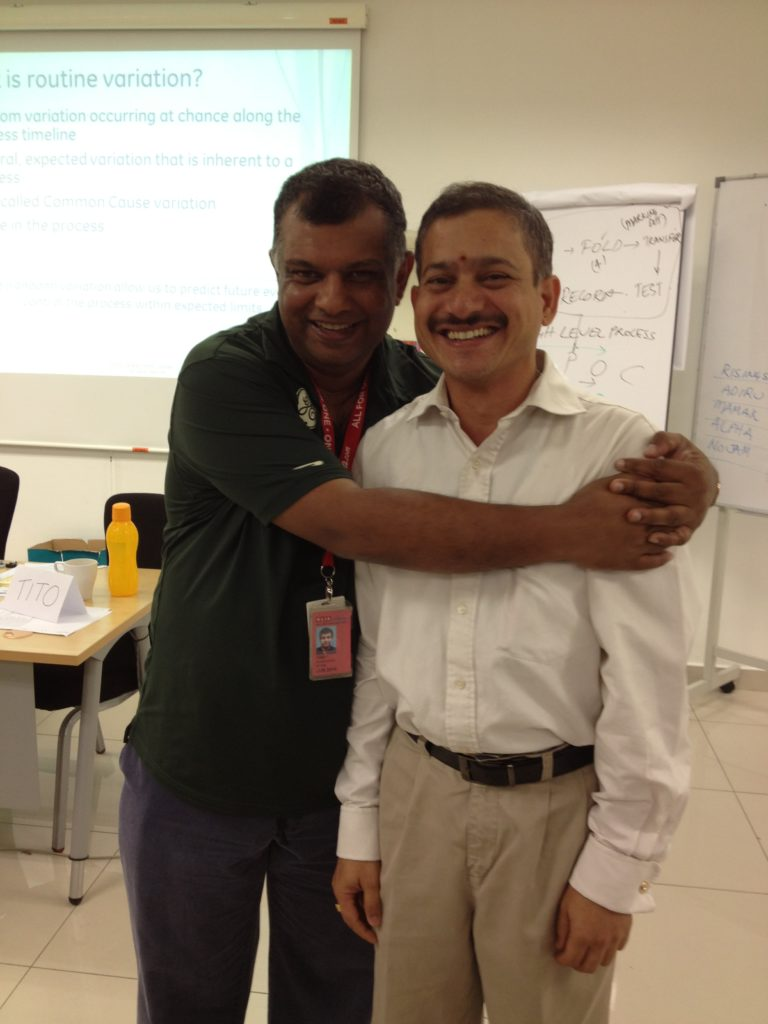 With Tony Fernandes, CEO AirAsia during the Greenbelt class @ Kuala Lumpur