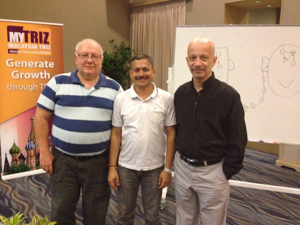 with TRIZ Masters: Dr. Mark Barkan and Dr. Anatoly Guin @ PESTATRIZ 2013, Kuala Lumpur